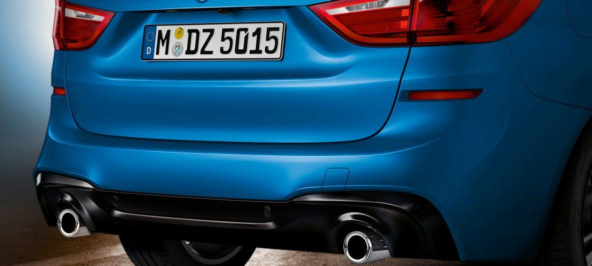 Heckpartie BMW 2er Gran Tourer F46 Facelift 2018 Estoril Blau metallic Nahaufnahme Heck