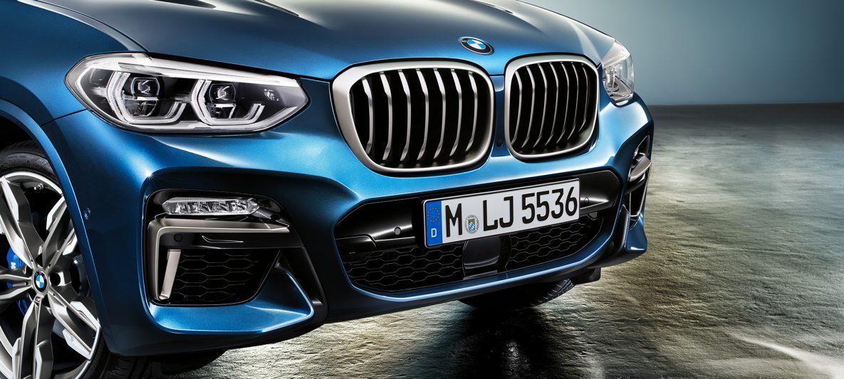 BMW X3 M40i, Frontschürze und Niere