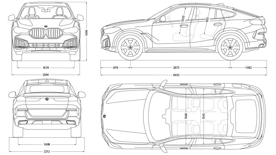 Technische Daten BMW X6